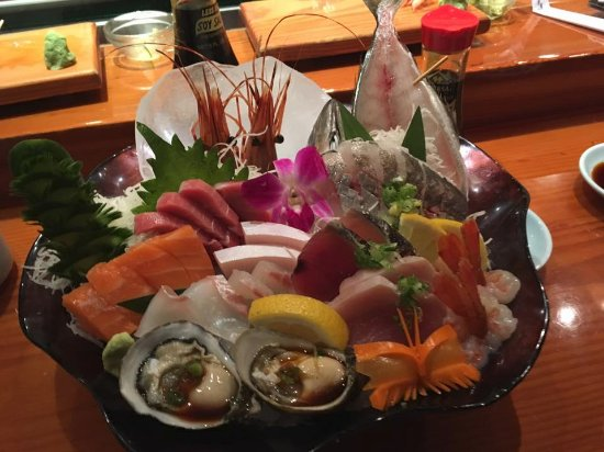 Seal Beach, Californië: Sashimi platter - prepared by our chef, Take, based upon our requests.