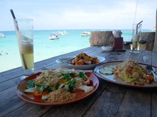 aow leuk bay delicious sea food at the restaurant