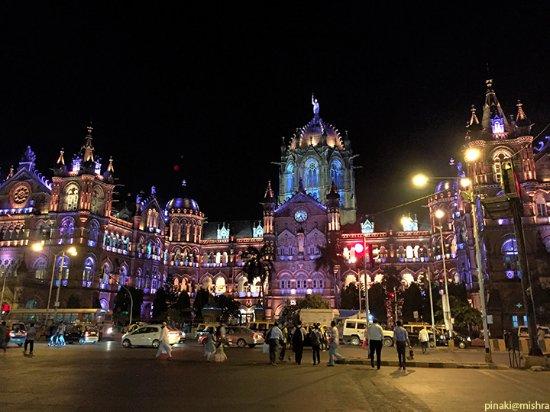 Chhatrapati Shivaji Terminus: CST station during Diwali