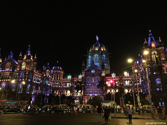 Chhatrapati Shivaji Terminus: All decked up at night