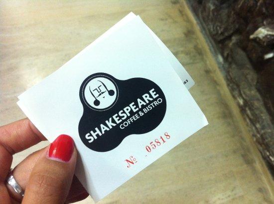 Shakespeare Coffee & Bistro : Кафе