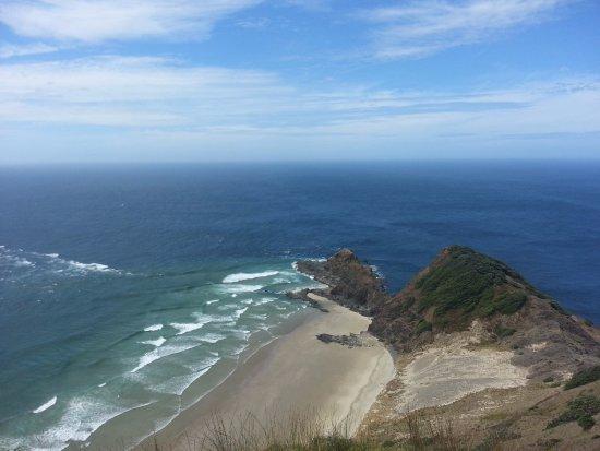 Nordøya, New Zealand: La vista desde arriba donde confluyen las aguas