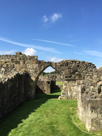 Ruins at Byland Abbey near Coxwold North Yorkshire