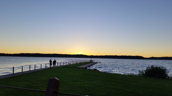 Bellaire, MI: Sunset at Torch Lake from the Dockside