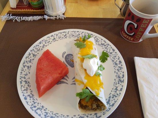 Bullberry Inn B&B: Ein Burrito zum Frühstück