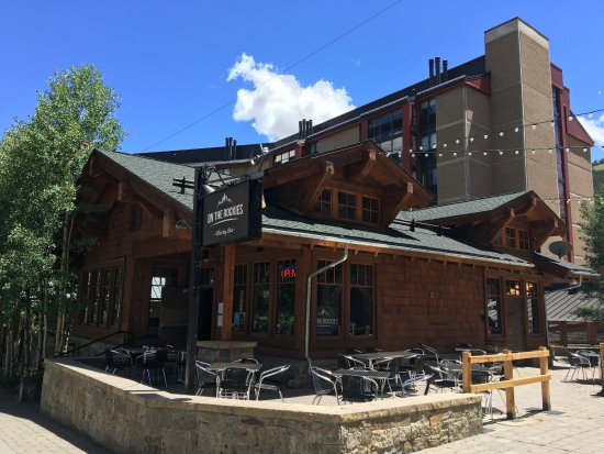 Copper Mountain, CO: Great patio with great views
