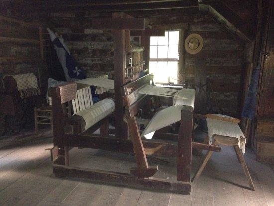Meadows of Dan, VA: Loom for weaving rugs
