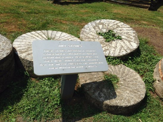 Meadows of Dan, VA: Hand-hewn millstones
