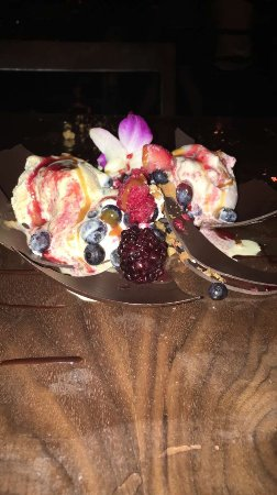 Toro Toro Restaurant & Bar: La bomba, they wrote happy birthday in chocolate sauce and everything was edible it was deliciou