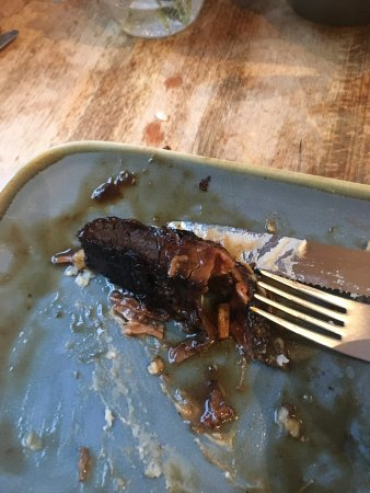 Martley, UK: The burnt end of the beef brisket