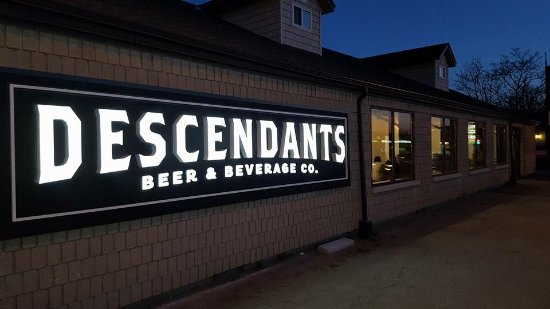 Descendants Beer and Beverage Co Ltd.: Outside Sign Illuminated