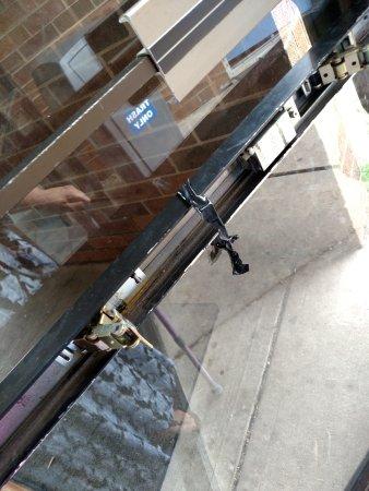 Piscataway, NJ: broken door - lock seemed to work, but this is an old maintenance issue