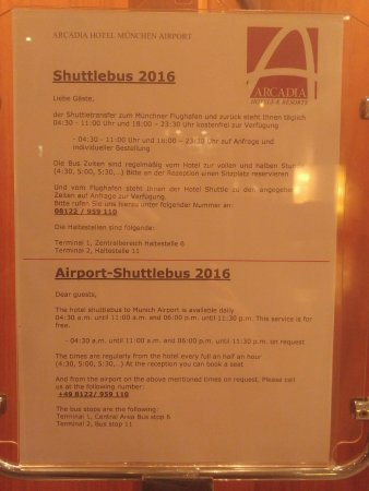 ชเวก, เยอรมนี: A note about the shuttle service from hotel to the airport