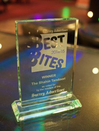 The Shahin: Best Bites Winner Trophy