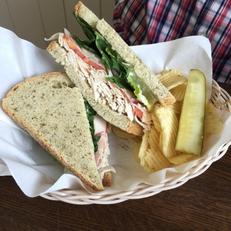 Grafton, VT: Deep filled turkey sandwich for lunch