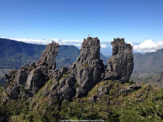 Arrondissement of Saint-Benoit, Reunion: Escalade des Trois Salazes à la Réunion avec un guide de haute montagne