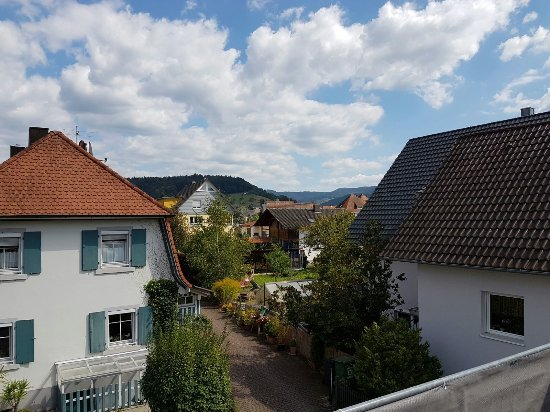 Biberach, Duitsland: View from the Bedroom Balcony.