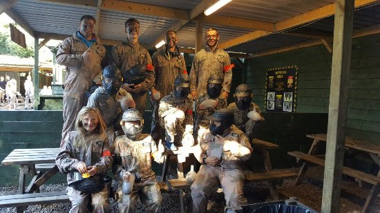 Eccles, UK: Sons 10th bday at delta force 2016