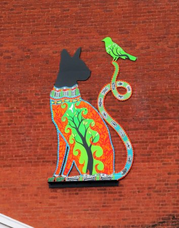 Torrington, CT: Art seen on a building nearby.