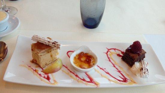 Etaples, Francja: Dessert, trilogy (the best kind, three!)