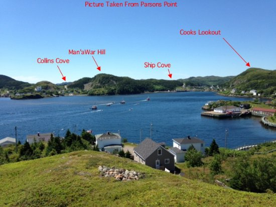 Cooks Lookout from Parsons Point, Burin