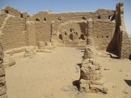 Necropolis of Al-Bagawat: The chapel built out of mudbrick around 350 BC