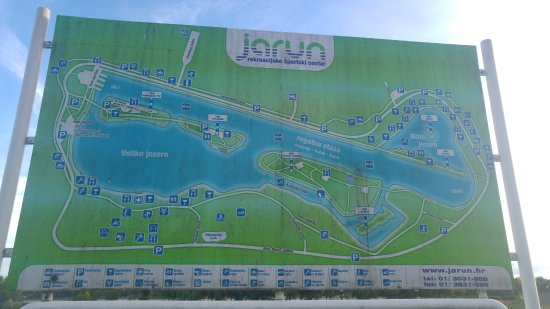 Recreational Sports Center Jarun : map