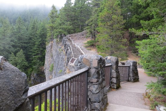 View point of fall. Salt Creek Falls, OR