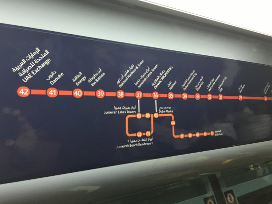 Metro map - Picture of Dubai Metro, Dubai - TripAdvisor