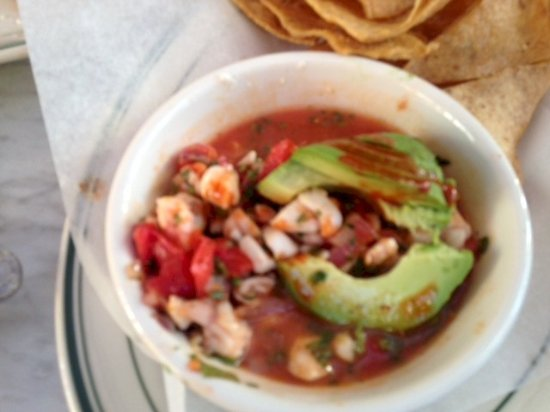 Boyes Hot Springs, Californien: halibut ceviche