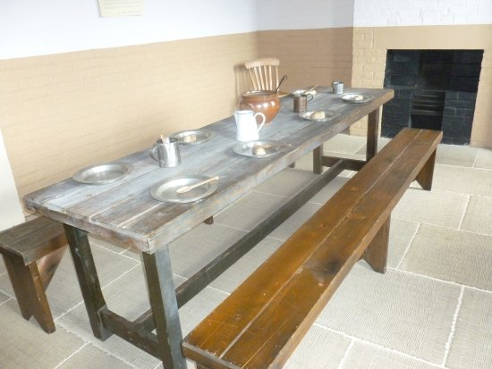 Southwell, UK: This is the mens area for their meals