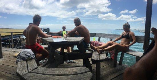 Utila, Honduras: Chilling at Parrots' dock