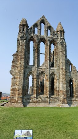 End view of Whitby Abbey
