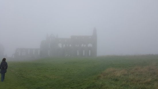 Whitby Abbey: Mysterious in mist