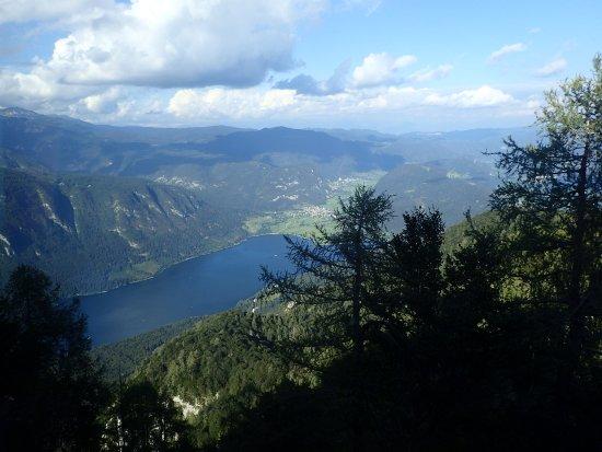 Bohinjsko Jezero, Eslovenia: Lake Bohinj as seen from the Vogel Ski Center cable car