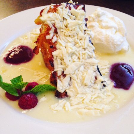 Nordstrom Cafe Bistro: Bread Pudding with Raspberry Sauce