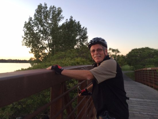 Ottawa, Canada: Treed bikeway through parkland with a few cute bridges.