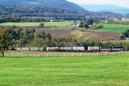 Howe Caverns: I was lucky enough to capture a train going by.