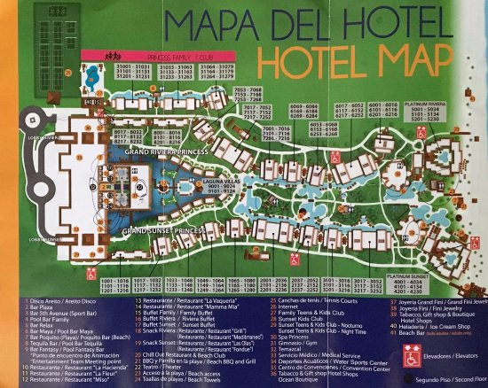 ‪‪Grand Riviera Princess All Suites Resort & Spa‬: Resort Map‬