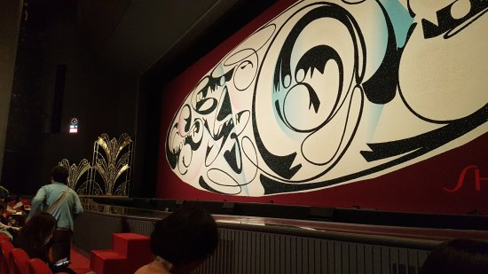 Tokyo Takarazuka Theater: 開演前の緞帳