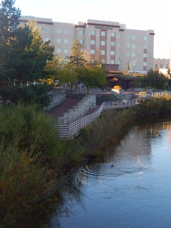 SpringHill Suites Fairbanks: Hotel from banks of Chena River