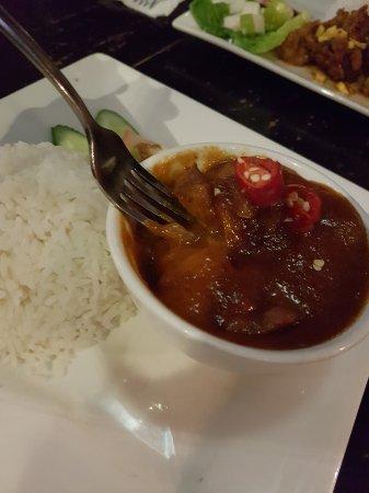 Geographer Cafe: Ayam Masak Merah, tad salty. Average taste