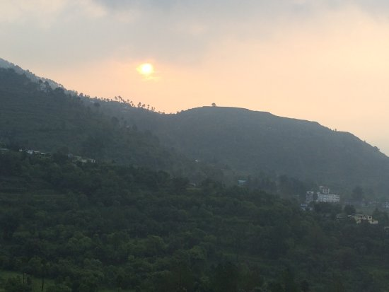 Sattal, India: View from inside cottage