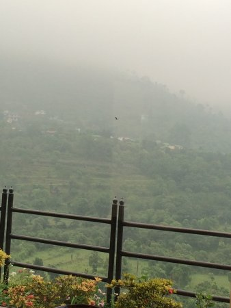 Sattal, India: View from lower level terrace