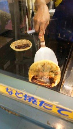 Namerikawa, Japan: B級グルメ、どんどん焼きです。