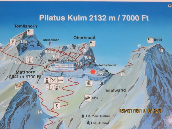 Photo of map at the mountain top Mount Pilatus Lucerne TripAdvisor