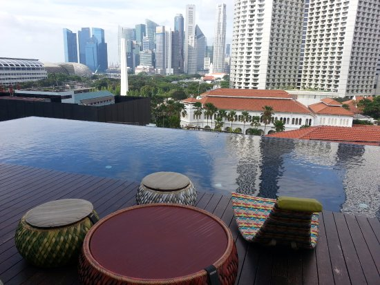 Roof Top Pool View Of Raffles Hotel Picture Of Naumi Hotel