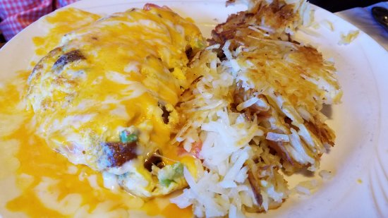 Fallbrook, Калифорния: omelette with hash brown