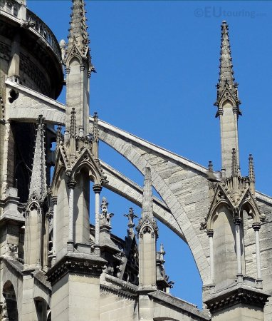 Notre Dame Cathedral The Flying Buttresses That Are Part Of Gothic Architecture