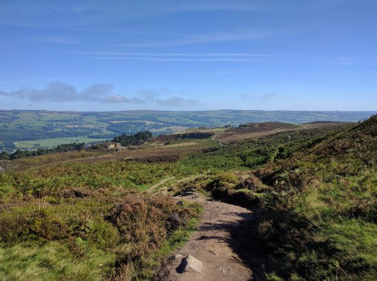 Ilkley, UK: The moors are minutes by foot from the door